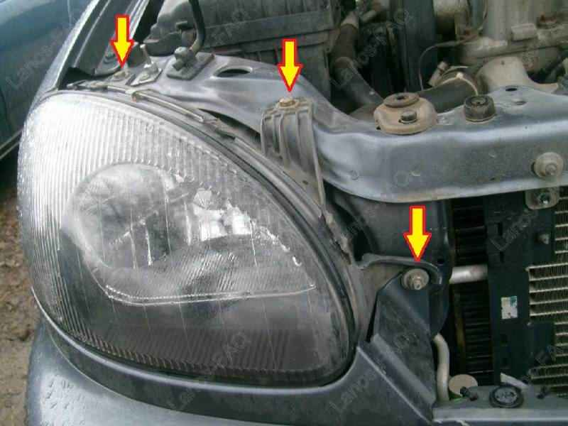 замена лампочки задних фар chevrolet lanos